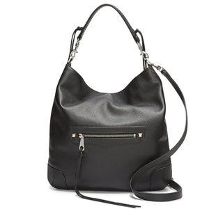 Rebecca Minkoff Slim Regan Hobo Leather Black NWT